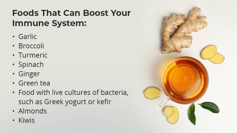 les aliments qui peuvent vous aider à renforcer votre système immunitaire